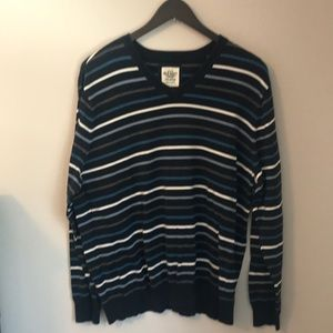 Men's Old Navy Striped V Neck Sweater XXL 2XL